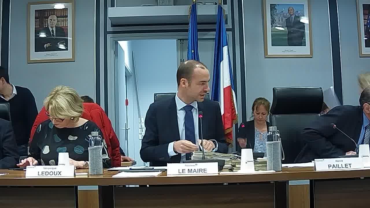 Mairie de Palaiseau – Conseil Municipal du 25 mars 2019