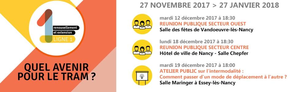 Ligne 1 - Réunion publique - Nancy le  18 Décembre 2017