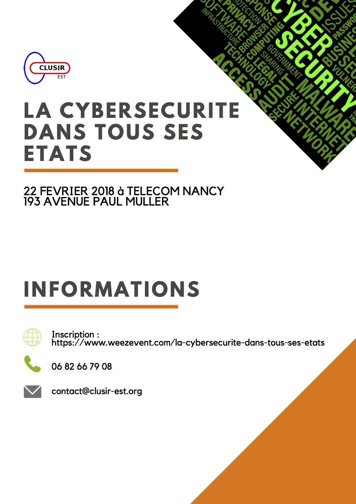 Journée du CLUSIR à Telecom Nancy - Matin